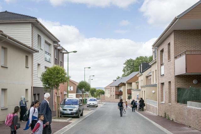 Les derniers logements reconstruits, rue Courteline