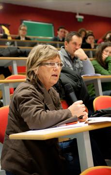Intervention d'une participante lors de la séance du 18 novembre.