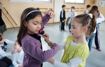 enfants au sein de la classe danse