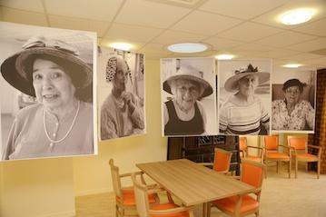 Exposition de portraits de résidents pour l'inauguration Ehpad Michel-Grandpierre