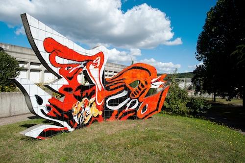 Combat de coqs, sculpture d'Edouard Pignon