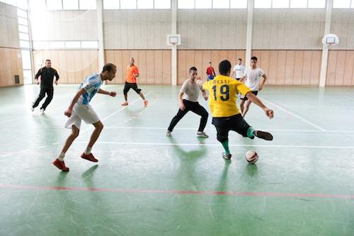 futsal au gymnase Paul-Eluard
