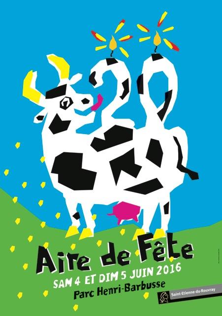 Affiche de l'édition 2016 d'Aire de fête