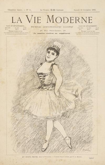 Dessin de Renoir dans La Vie Moderne