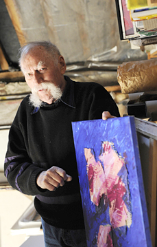 portrait du peintre et collectionneur Gérard Gosselin