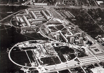 vue aérienne de l'urbanisme en forme d'œufs au Château Blanc